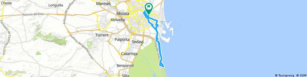 Long bike tour through Carpesa