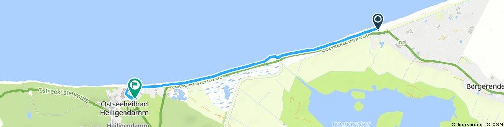 Schnelle Ausfahrt von Börgerende-Rethwisch nach Bad Doberan