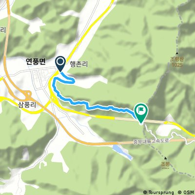 Ewha Pass uphill course