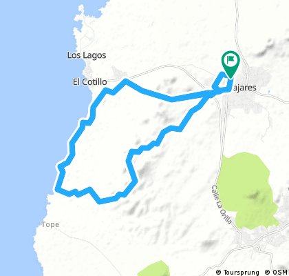 surfoasis to playa esquinzo and back
