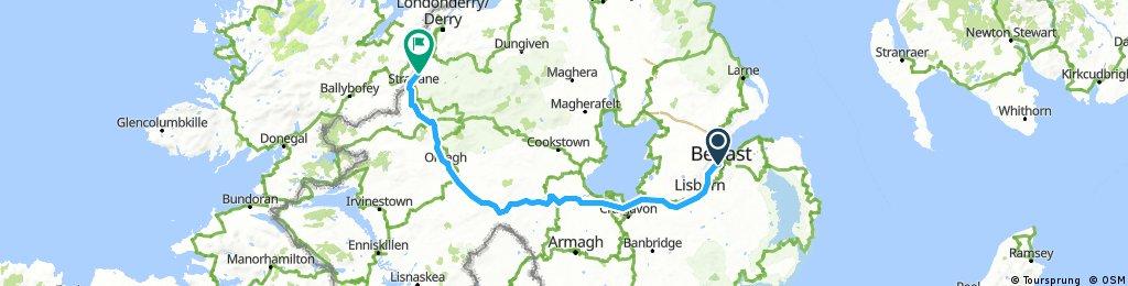 Lengthy ride through Ballymagorry