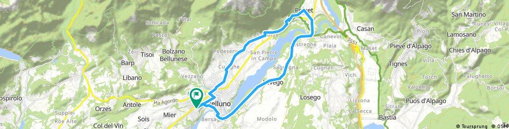 ride through Belluno