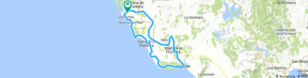 Chiclana-Conil-Barbate-Vecher-Chiclana_104km