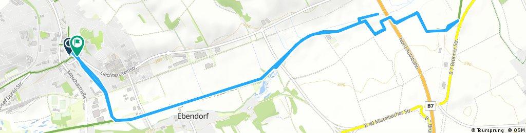 Radrunde durch Gemeinde Mistelbach Autobahnbesichtigung