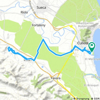 Tour von Cullera über Llauri nach Corbera und retour