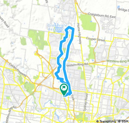 train and ride Broadmeadows Valley track