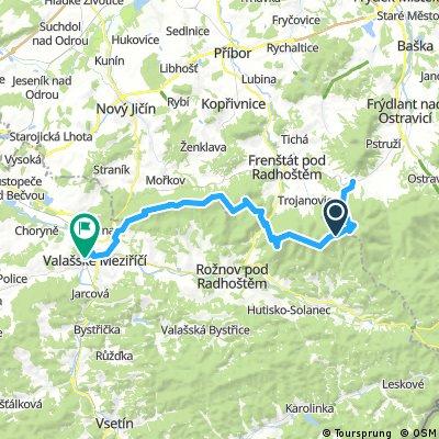 Beskydy: Kunčice pod Ondřejníkem - Valašské Meziříčí