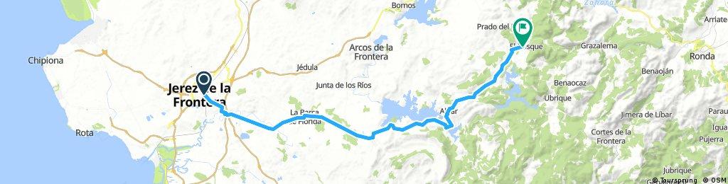 Jerez to El Bosque via Embalse