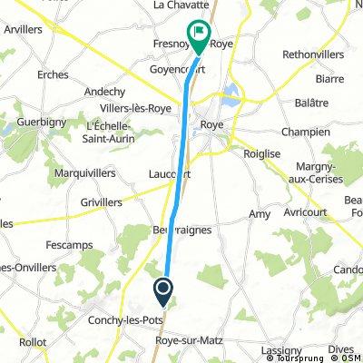Short bike tour through Fonches-Fonchette