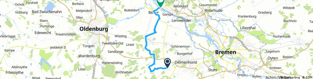 Ganderkesee - Berne 35 KM