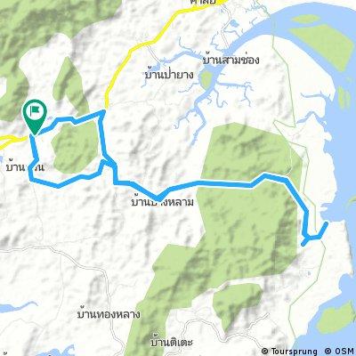 Long bike tour through Amphoe Takua Thung