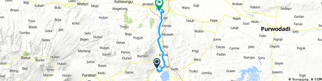Long bike tour through Semarang