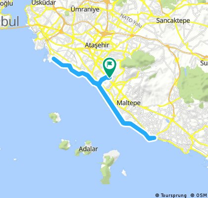 Long bike tour through Maltepe