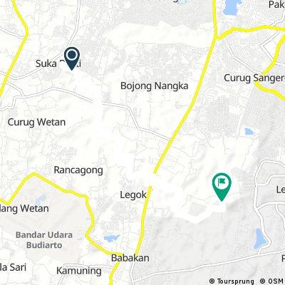MTB Route GK to Cihubi