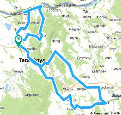 2018. május Tatai Öreg-tó Partjától a Gerecsei Tájvédelmi Körzeten át  Etyekig Kerékpártúra