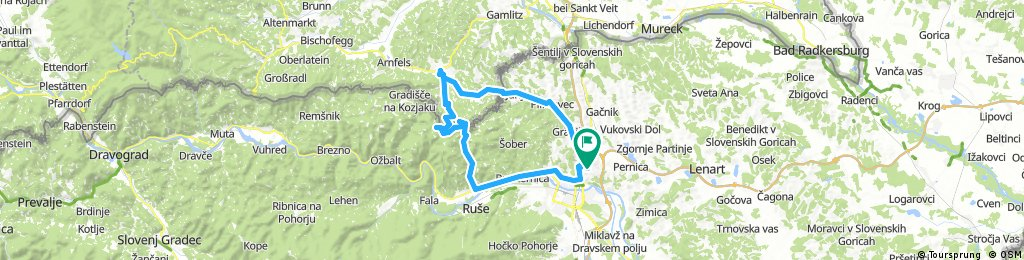 Košaki - Jurij - Schlossberg - Hlg.Geist - Sp.Slemen - Maribor