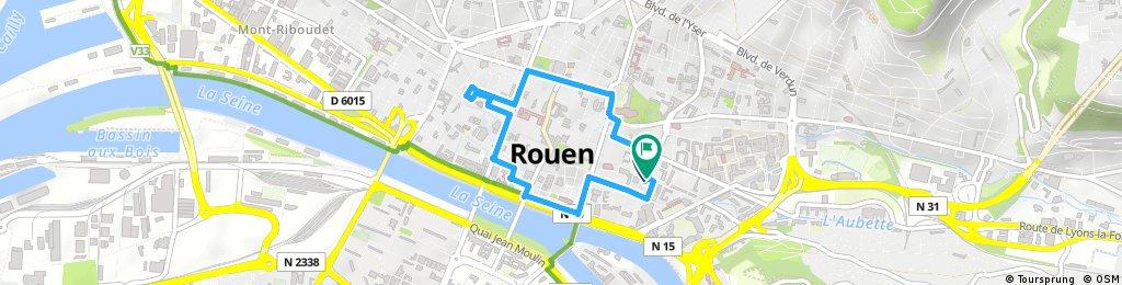 balade lumineuse du 9 décembre 2017 à Rouen