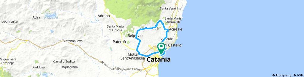 Lengthy ride through Catania