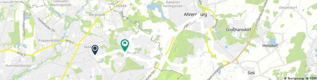 Sasel-Ahrensburg (nur feste Wege)