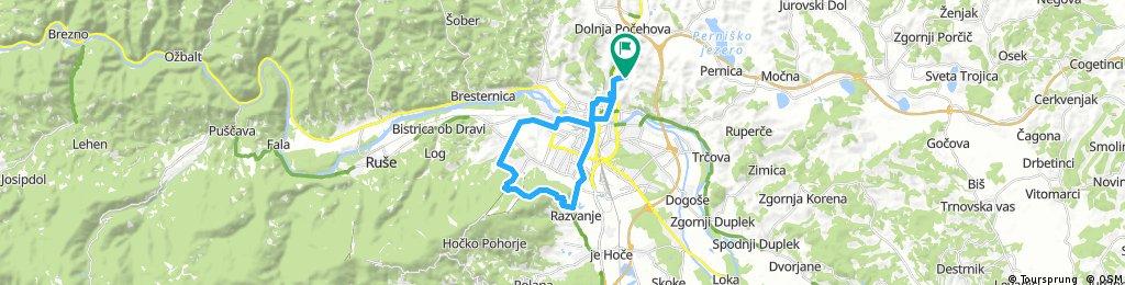 Košaški dol - MB center - Pekre - Trikotna jasa - Razvanje - Tabor - Košaki