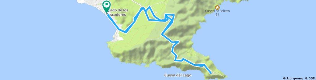 Von La Azohia nach Batteria Castellizos und Batteria Jorel und retour