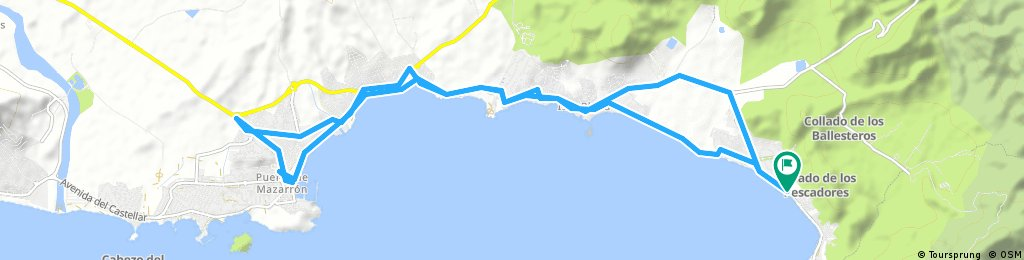 Von Playa la Chapineta/Azohia über Isla Plana nach Porto Mazarron und zurück