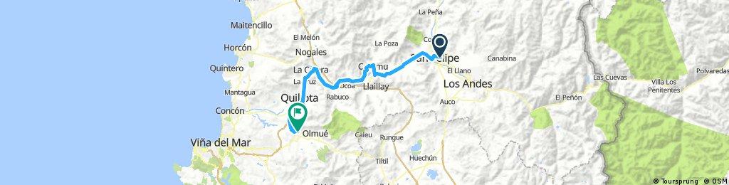 Long bike tour from 5 décembre 07:17