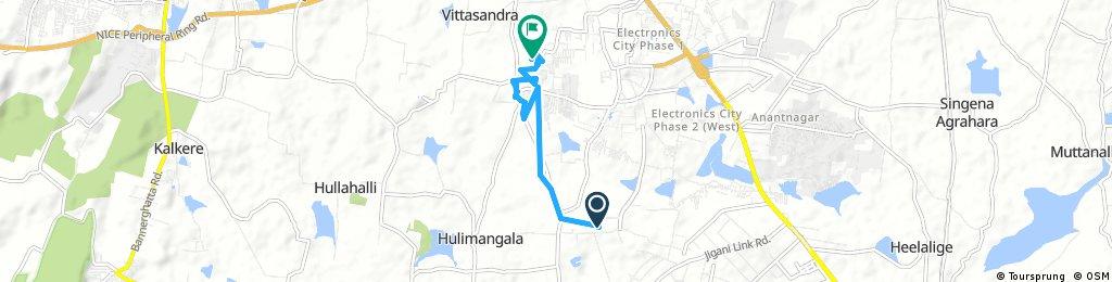 Quick bike tour through Konappana Agrahara