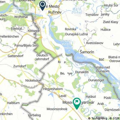 Donau - Day 11 to Mosonmagyaravar