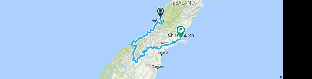 NZ South Island Ride / Greymouth - Christchurch