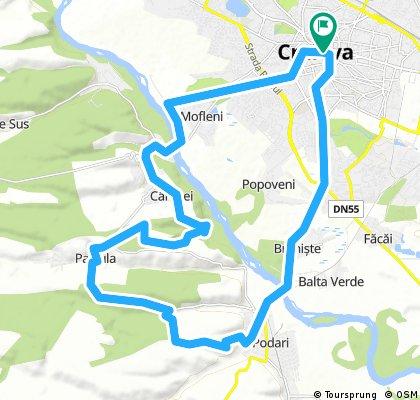 Craiova - Carligei - Padure -Palilula - SV -Litere -Craiova