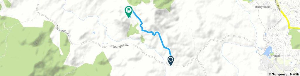 Brief bike tour through bullen range