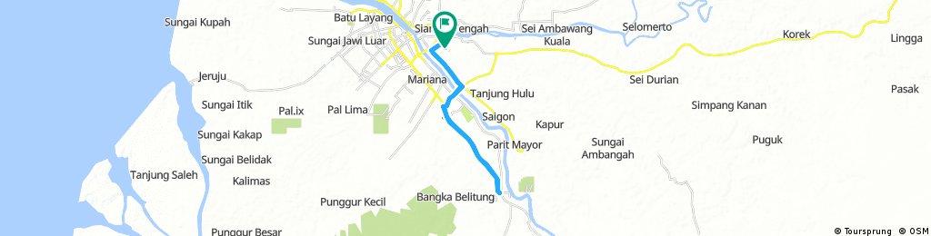 Long bike tour through Pontianak