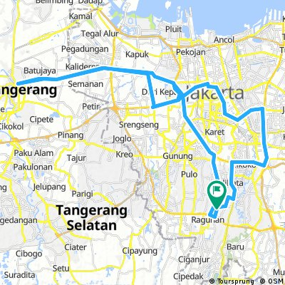 Cycling routes and bike maps in and around Jakarta | Bikemap - Your ...