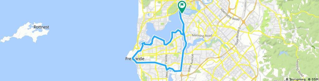 Long bike tour through Perth