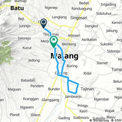 Lengthy bike tour through Malang