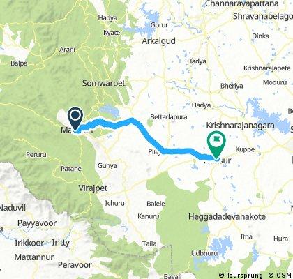 Coorg nach Hunsur Tag 9