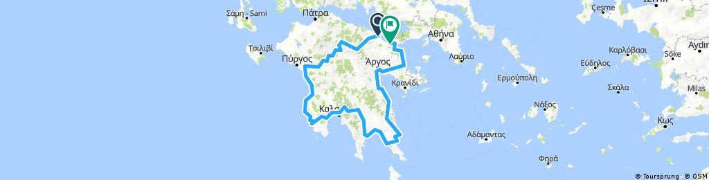 Велопоход по Греции. Январь 2018.