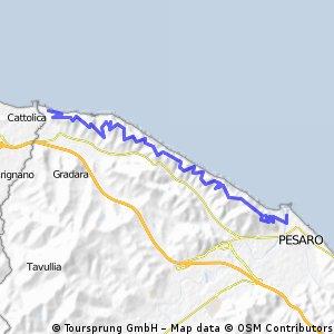 von Gabicce Mare an der Küstenstraße nach Pesaro