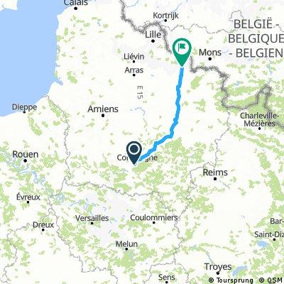 Paris to Valenciennes