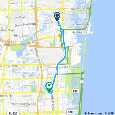 Map Of Florida Ft Lauderdale.Cycling Routes And Bike Maps In And Around Fort Lauderdale Bikemap