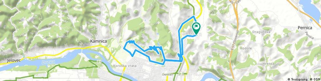 Košaški dol - Kalvarija - Mestni vrh - Trije ribniki - Košaki