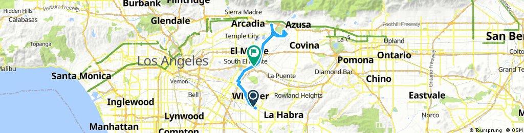 Lengthy ride through South El Monte