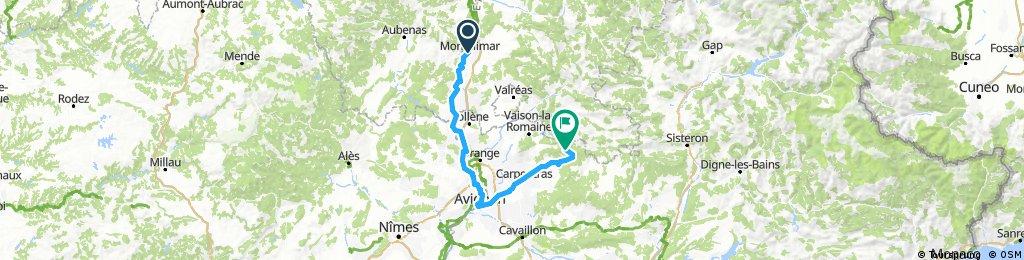 Montelimar - Mont Ventoux