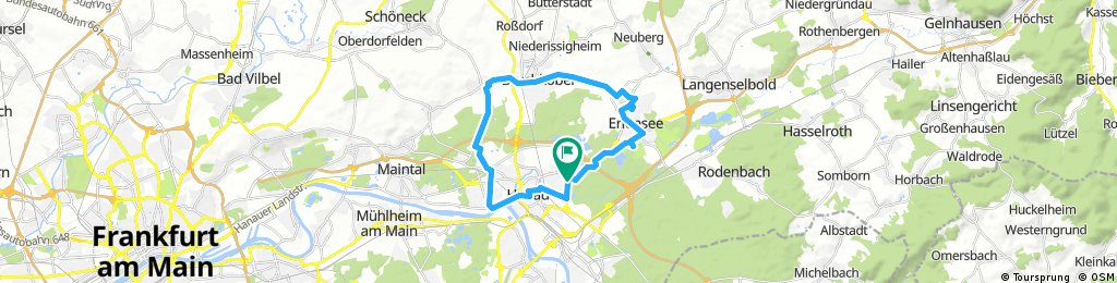 Bulau - Erlensee - Brk. - Wilhelmsbad - Lamboy