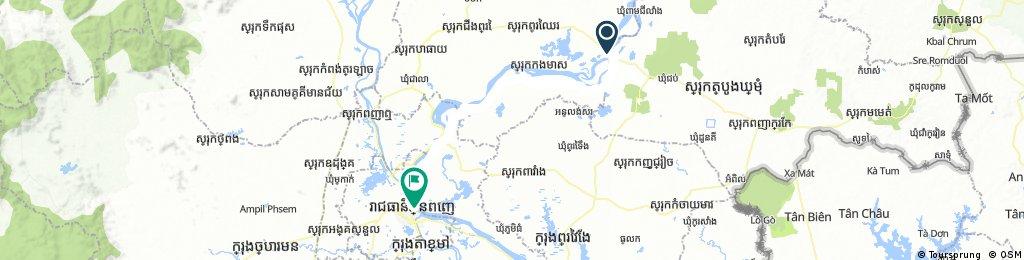 1822 Kampong Cham - Pnom Phen