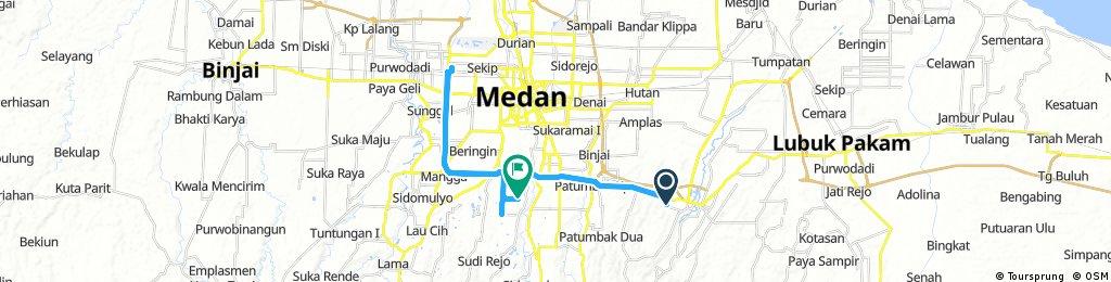Lengthy ride through Kedai Durian