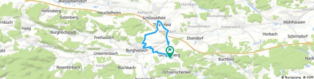 Testfahrt Schlüsselfeld - Burghaslach