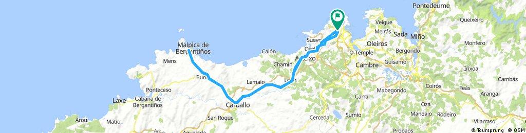 Coruña-Carballo-Malpica-Carballo-Coruña