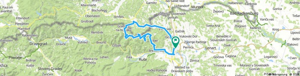 Košaki - Jurij - Remschnigg-Alm - Spodnja Kapla - Sveti Duh - Žavcarjev vrh - Bresternica - Maribor